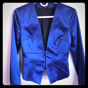 Bebe silky blue blazer